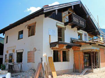 Maison individuelle en cours de rénovation